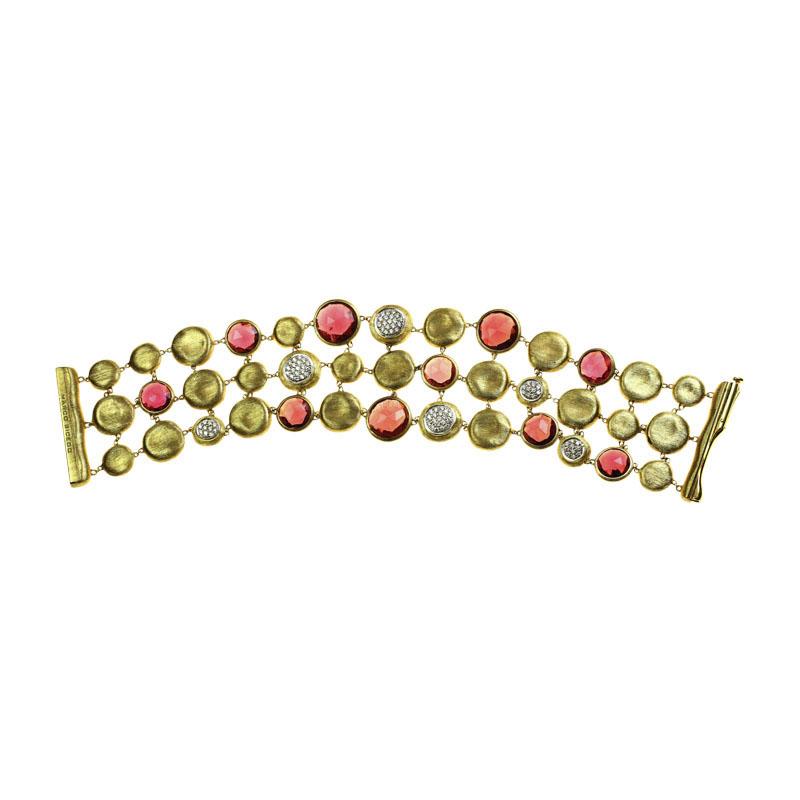 """""""""""Marco Bicego 18K Yellow Gold with Diamond Garnet Bracelet"""""""""""" 1951740"""