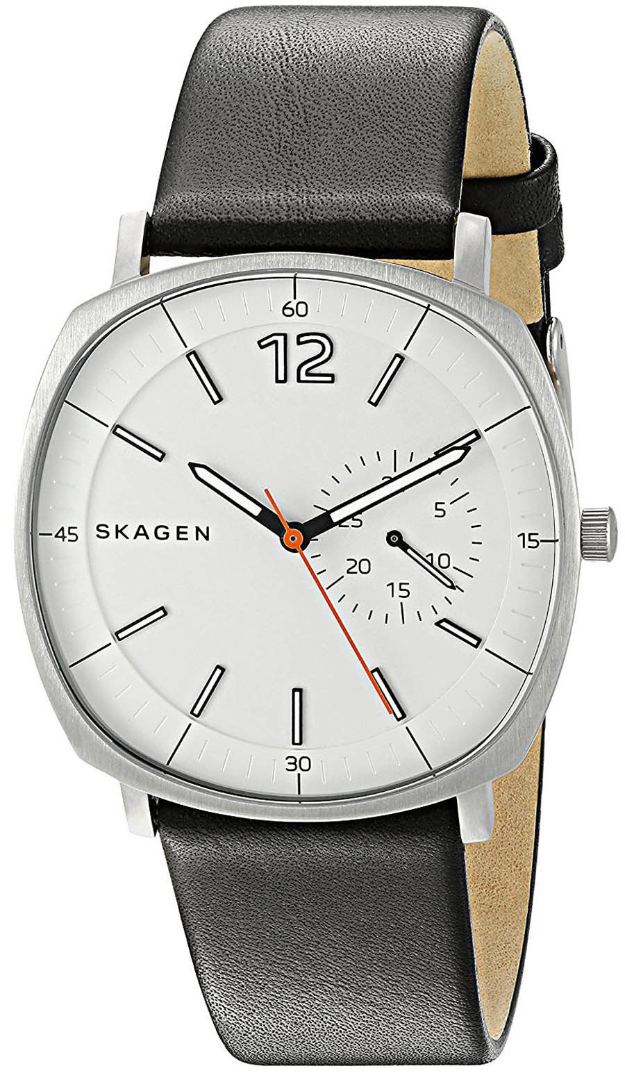"Image of ""Skagen Skw6256 Stainless Steel / Leather Quartz 40mm Mens Watch"""