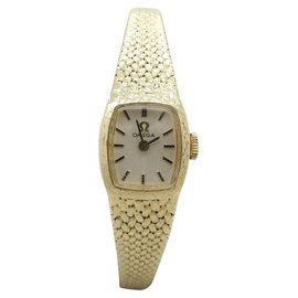 Omega 485 14K Yellow Gold Manual Vintage 15mm Womens Watch