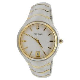 Bulova 98G99 Gold Plated/Stainless Steel Quartz 35mm Mens Watch