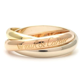 Cartier Trinity 18K Yellow, Rose & White Gold Ring Size 8.75
