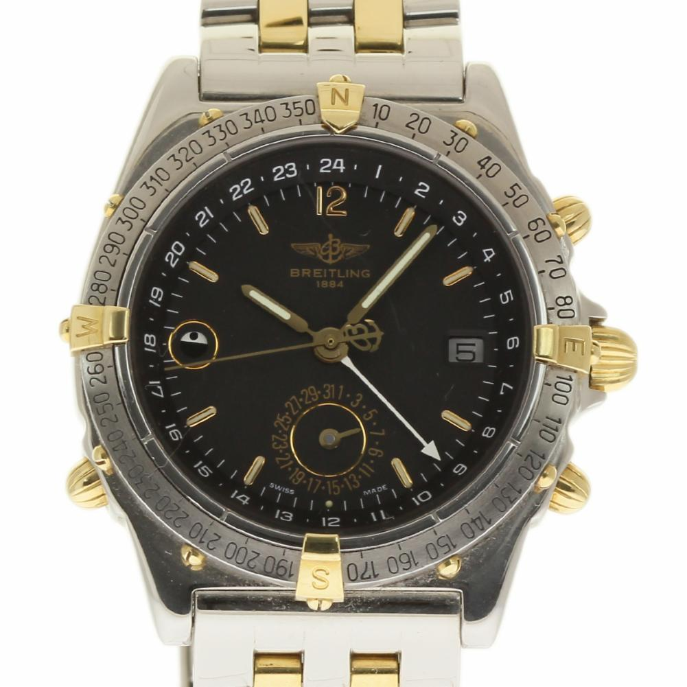 """Image of """"Breitling Duograph B15507 38mm Stainless Steel & Yellow Gold Men's"""""""