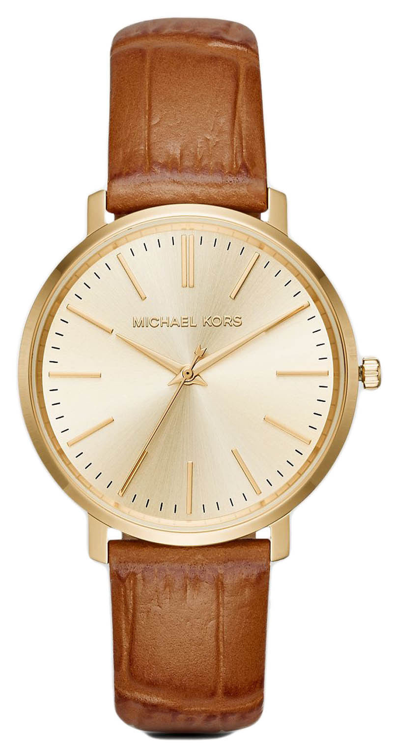 "Image of ""Michael Kors Jaryn Mk2496 Gold Tone Stainless Steel / Leather Quartz"""