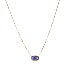 Marco Bicego Delicati 18K Yellow Gold with Amethyst Necklace