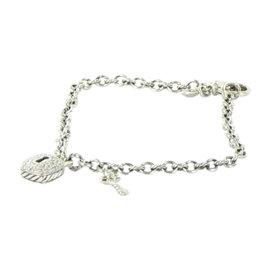 David Yurman Petite Pave 925 Sterling Silver with 0.19ct Diamond Charm Bracelet
