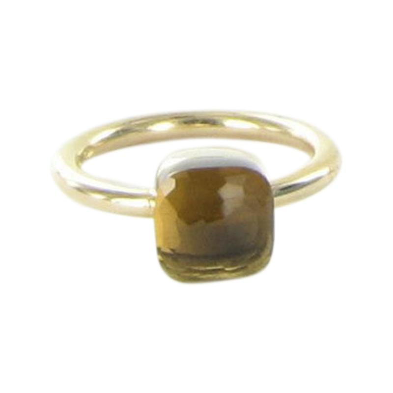 """""Pomellato Nudo 18K Rose Gold with Smoky Quartz Ring Size 5.5"""""" 2021859"
