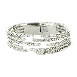 David Yurman Willow 925 Sterling Silver with 1.53ct Diamond Bracelet
