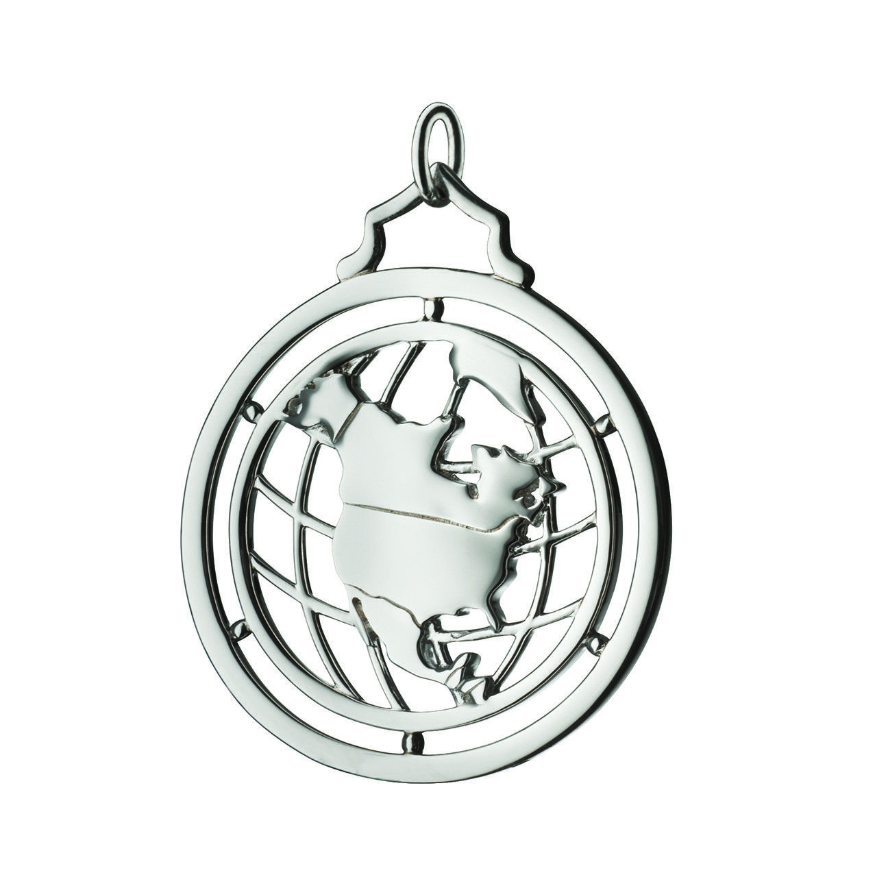 "Image of ""Monica Rich Kosann 925 Sterling Silver North America Charm Pendant"""