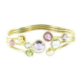 Marco Bicego Jaipur 18K Yellow Gold with Amethyst, Citrine, Tourmaline and Blue Topaz Bracelet