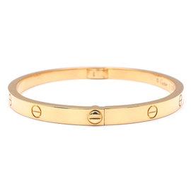 Cartier Love 18K Yellow Gold Bangle Bracelet Size 15