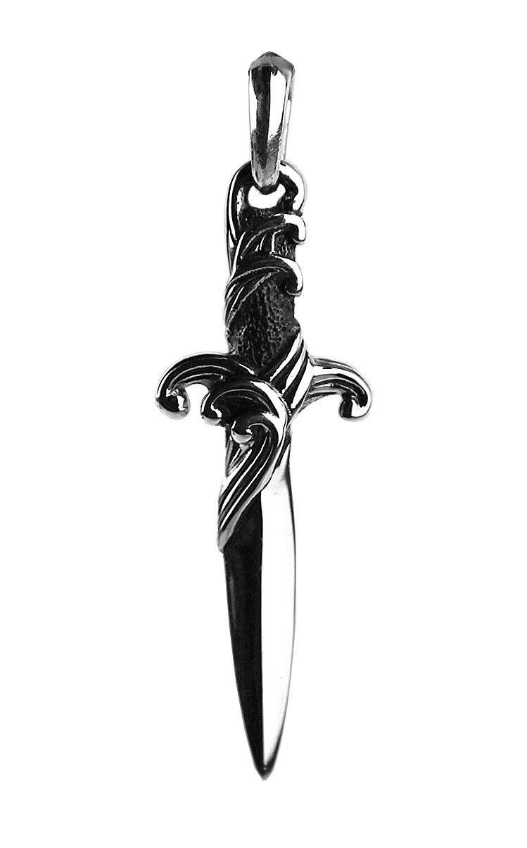 "Image of ""David Yurman Sterling Silver Waves Dagger Pendant"""