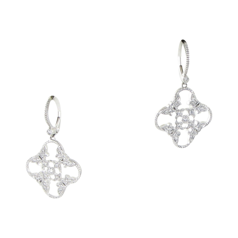 "Image of ""Leslie Greene Laurel 18K White Gold 0.32ct Diamond Earrings"""