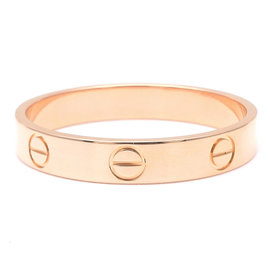 Cartier 18K Rose Gold Mini Love Ring Size 9