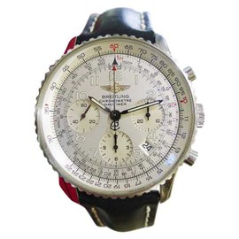 Breitling Navitimer A23322 Stainless Steel Silver Dial Automatic 41mm Mens Watch