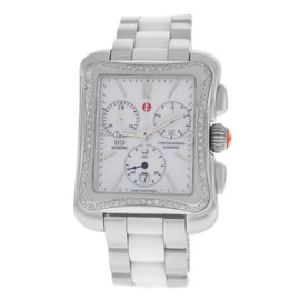 Michele Deco Moderne MW06U01A1025 Stainless Steel with 0.36ct Diamond Quartz 32mm Womens Watch