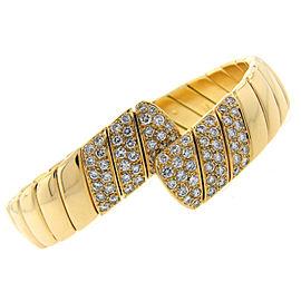 Cartier 18K Yellow Gold 1.85ct. Diamond Bangle Bracelet