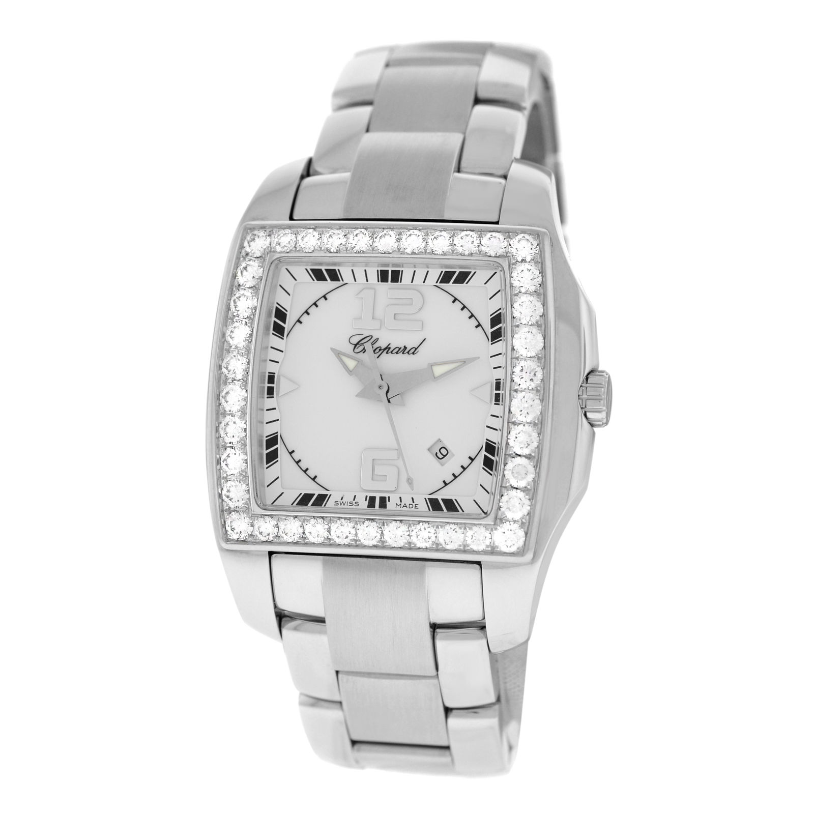 """Image of """"Chopard Two O Ten 108464-2001 18K White Gold & Stainless Steel 1.87"""""""