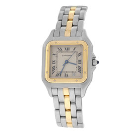 Cartier Panthere 110000R Stainless Steel & 18K Yellow Gold Quartz 26mm Womens Watch