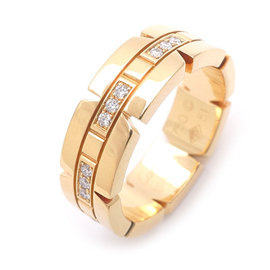 Cartier Tank Francaise 18K Yellow Gold & Diamond Ring