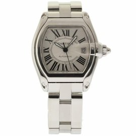 Cartier Roadster W62025V3 Stainless Steel Silver Dial Automatic 44mm Mens Watch