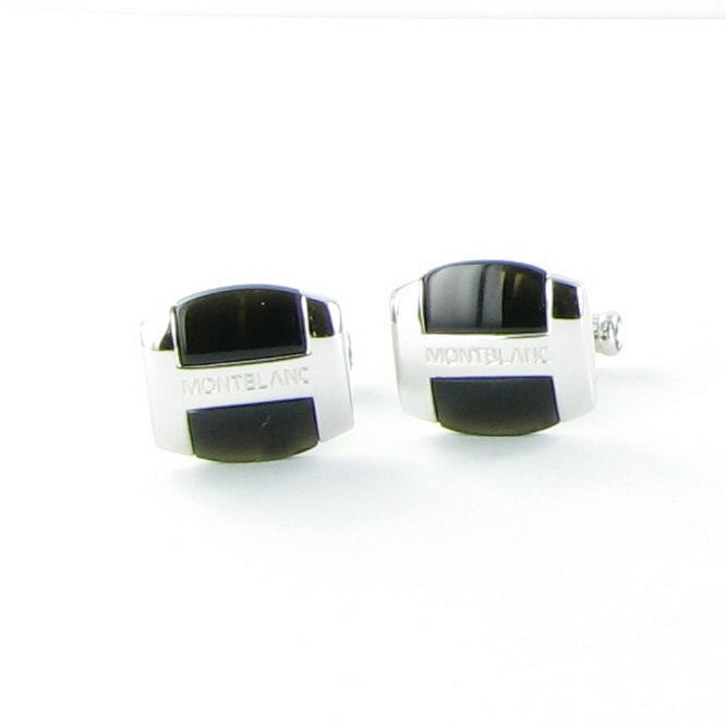 """Image of """"Montblanc 925 Sterling Silver Rhodium Plated Cufflinks"""""""