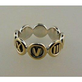Tiffany & Co. 18K White Gold & Diamond Atlas Italy Band Ring Size 6.5