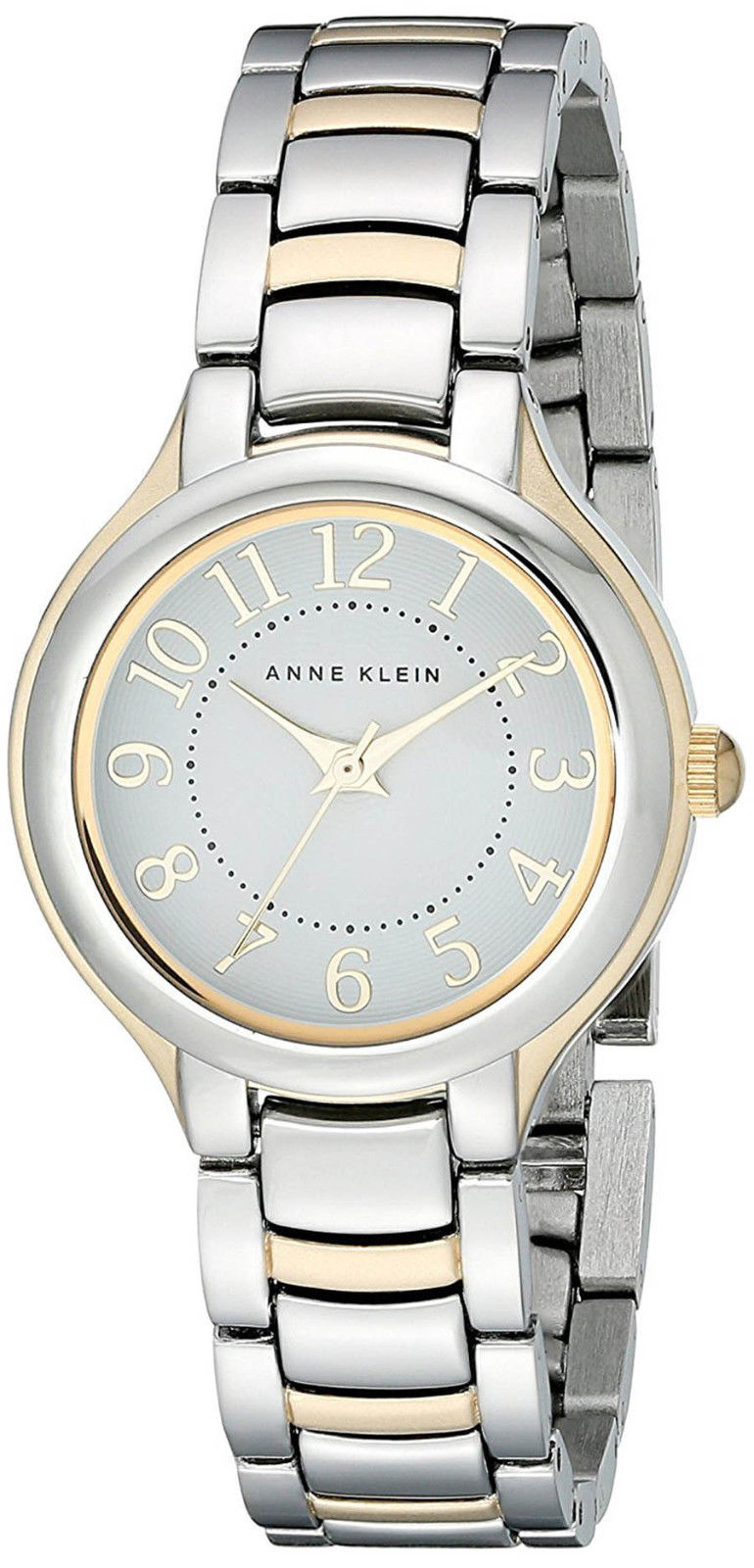 "Image of ""Anne Klein Ak/2009Wttt Stainless Steel and Gold Tone White Dial 29mm"""