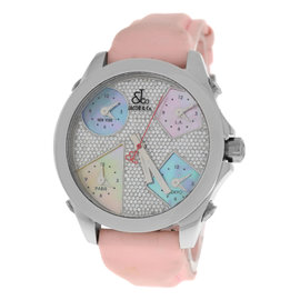 Jacob & Co. Five 5 Time Zone JCM44 Stainless Steel with Mother of Pearl Dial 40mm Womens Watch