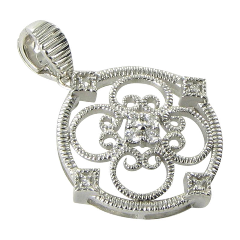 "Image of ""Leslie Greene Eva 925 Sterling Silver with 0.21ct Diamond Pendant"""