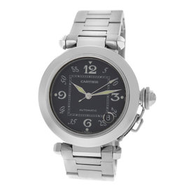 Cartier Pasha 2324 Stainless Steel Black Dial Automatic 35mm Unisex Watch