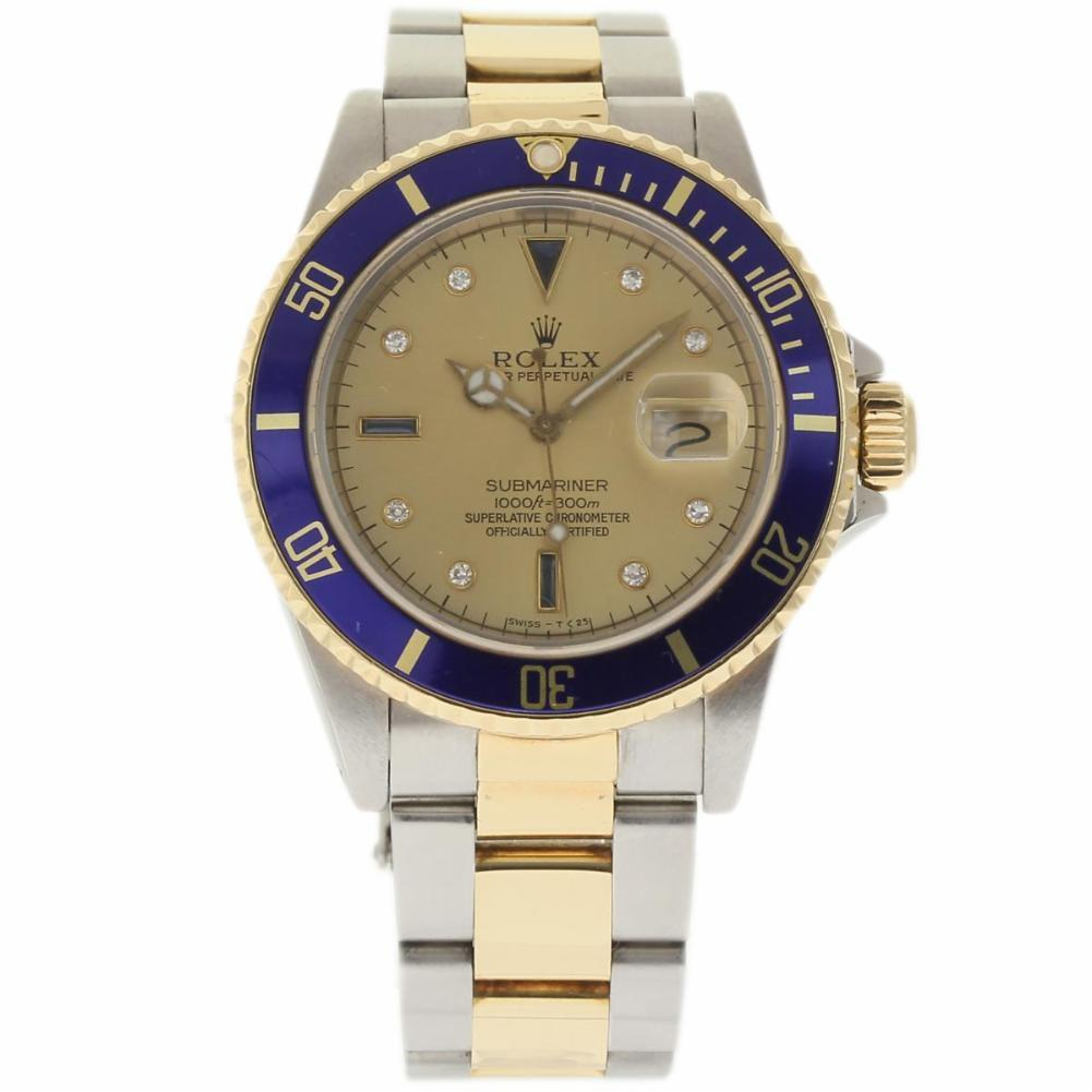 """Image of """"Rolex Submariner 16803 Stainless Steel & Yellow Gold with Diamond 40mm"""""""