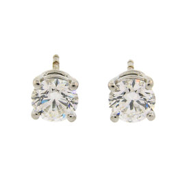 Tiffany & Co. Platinum 2.18cts Round Brilliant Cut Diamond Earrings