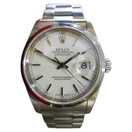 Rolex Oyster Perpetual Datejust Stainless Steel Vintage Automatic 36mm Mens Watch