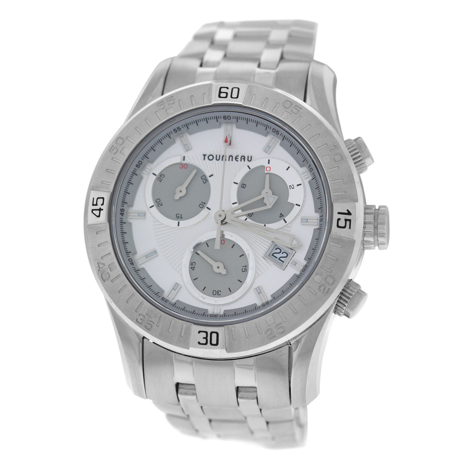 """Image of """"Tourneau Corporate Collection Stainless Steel Quartz 42mm Mens Watch"""""""
