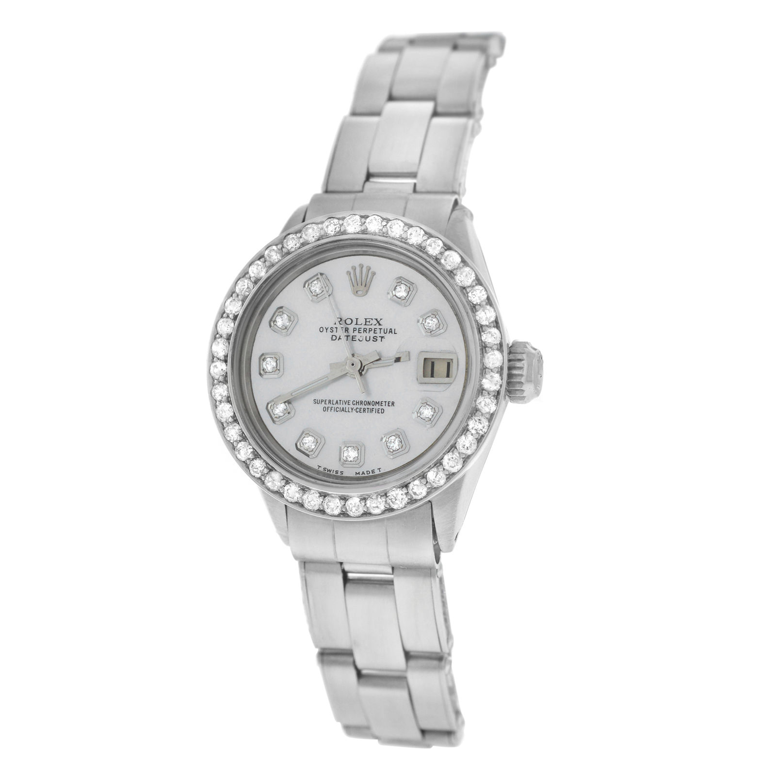 """Image of """"Rolex Datejust 6516 Stainless Steel with Diamond Automatic 26mm Womens"""""""