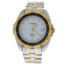 Tourneau Seapearl 955.612 Stainless Steel & Yellow Gold Quartz 41mm Mens Watch