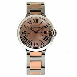 Cartier Ballon Bleu W2BB0011 Stainless Steel & 18K Rose Gold 36mm Womens Watch