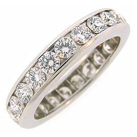 Tiffany & Co. Platinum with 2.30ct Diamond Eternity Band Ring Size 8