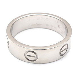 Cartier Love 18K White Gold Ring Size 6.5