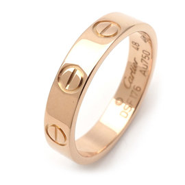 Cartier Mini Love 18K Rose Gold Ring Size 4.5