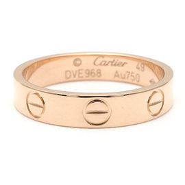 Cartier Mini Love 18K Rose Gold Ring Size 4.75