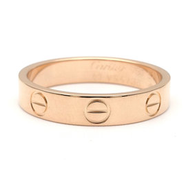 Cartier Mini Love 18K Rose Gold Ring Size 5.75