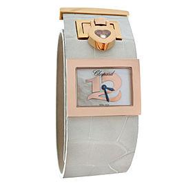 Chopard Happy Diamonds 209147-5001 18K Rose Gold Quartz 26mm Womens Watch