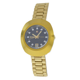 Rado Diastar 561.0316.3 Gold Plated Stainless Steel Automatic 27mm Womens Watch
