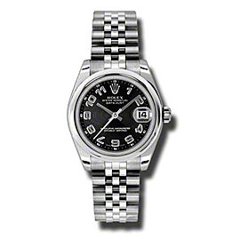 Rolex Datejust Steel Black Conentric Arabic Dial 31mm Watch
