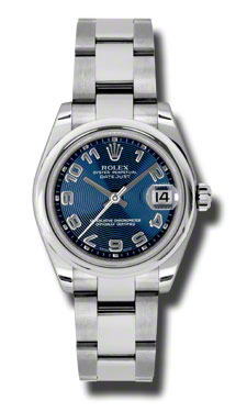 "Image of ""Rolex Datejust Steel Blue Concentric Arabic Dial 31mm Watch"""