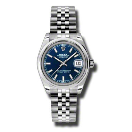 """Image of """"Rolex Datejust Steel Blue Stick Dial 31mm Watch"""""""