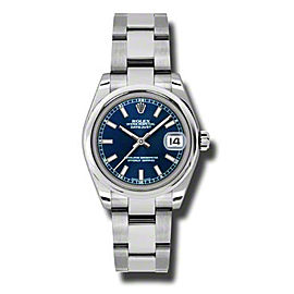 Rolex Datejust Steel Blue Stick Dial 31mm Watch