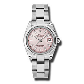 Rolex Datejust Steel Pink Index Dial 31mm Watch