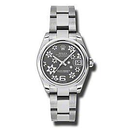 Rolex Datejust Steel Rhodium Floral Dial 31mm Watch